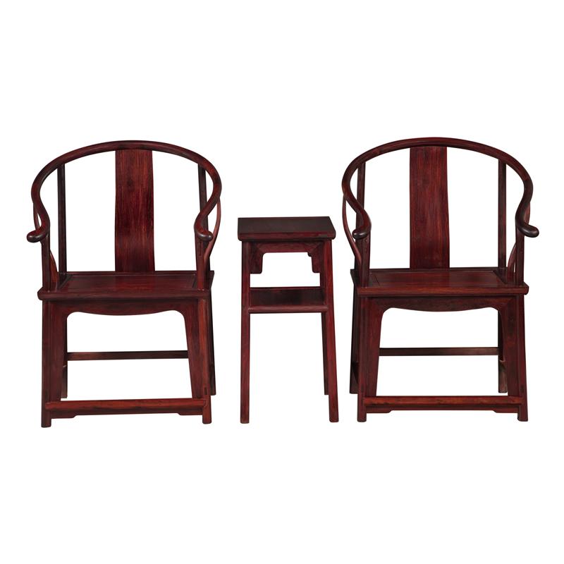 檀香紫檀圈椅